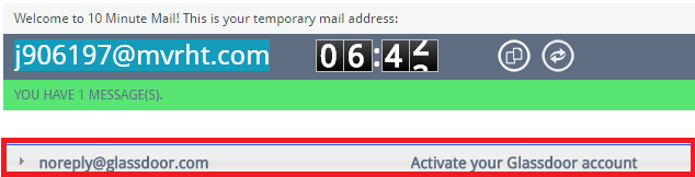 Generate a random disposable email that expires in 10 minutes